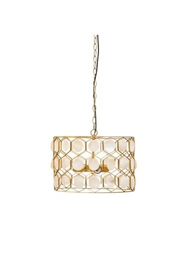 Warm Design Altın Kabuk Motifli Metal Sarkıt Altın